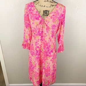 Maggy London 100% Silk Floral Dress - SZ 10